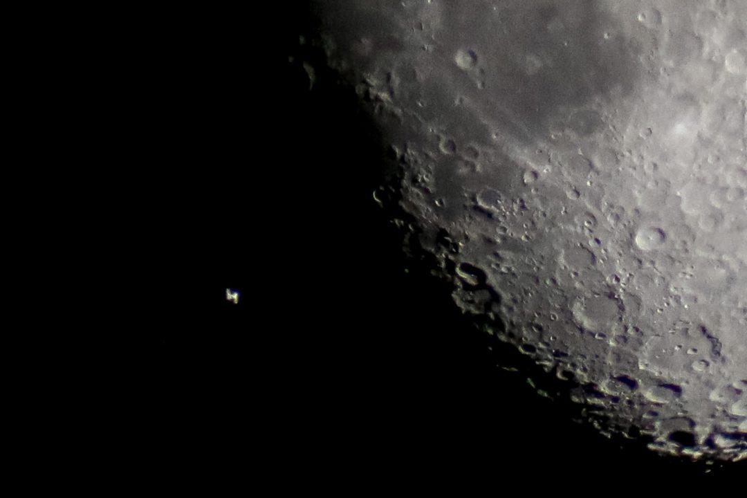 744ISS moon transit